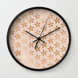 little flowers iii Wall Clock