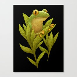 Frog Bloom Canvas Print