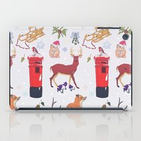 wildlife iPad Cases featuring Winter Wildlife by minniemorrisart