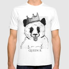 Queen B White Mens Fitted Tee MEDIUM