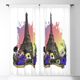 Eiffel Tower Blackout Curtain