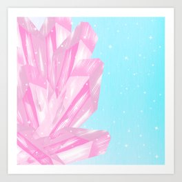 Sparkly Pinky Crystals Design Art Print