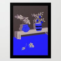 lemon Art Prints featuring Lemon by Anne