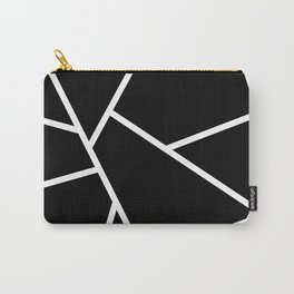 Black and White Fragments - Geometric Design II Carry-All Pouch