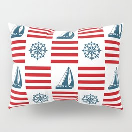 Nautical pattern Pillow Sham