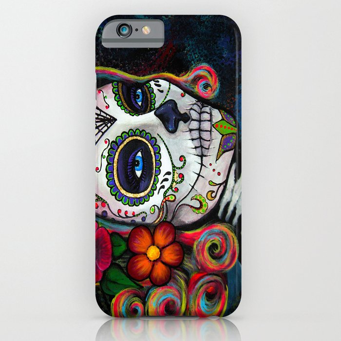 sugar skull candy iphone case
