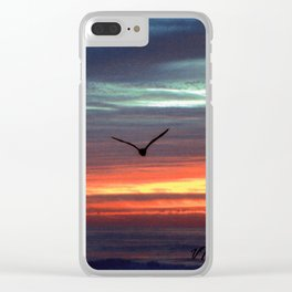 Black Gull by nite Clear iPhone Case