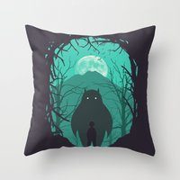 scary Throw Pillows featuring Scary Monsters and Nice Sprites by filiskun