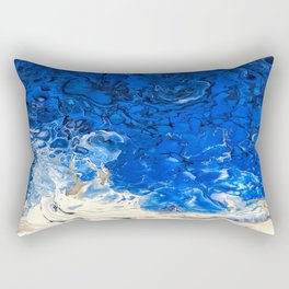 Art Print of Original Fluid Alcohol ink and resin painting Rectangular Pillow
