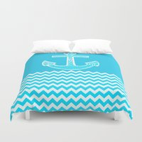 anchor Duvet Covers featuring Anchor by haroulita