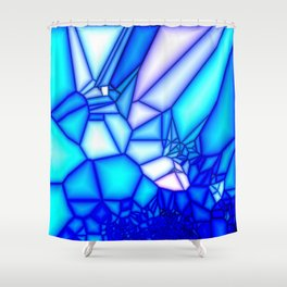 Glowing blue Shower Curtain