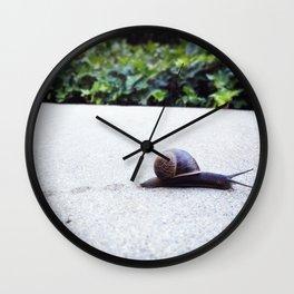 Escargot-cha II Wall Clock
