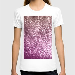 Sparkling BLACKBERRY CHAMPAGNE Lady Glitter #1 #decor #art #society6 T-shirt
