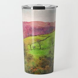 Green Grasmere Hillside, Ambleside, Lake District UK Travel Mug
