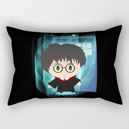 the boy who time traveled Rectangular Pillow
