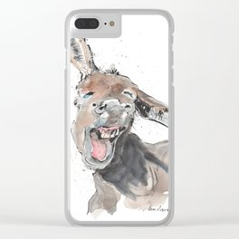Donkey Delight! Clear iPhone Case