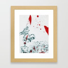 Heroin Zombies Framed Art Print