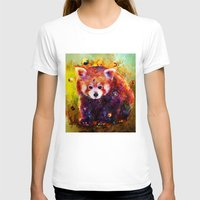 red panda T-shirts featuring red panda by ururuty