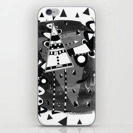 Sir Triangle Black iPhone Skin