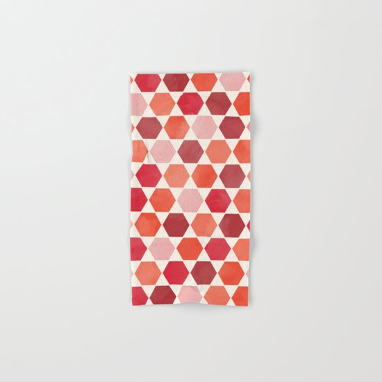 Red Tiles Hand & Bath Towel
