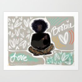 Boobie Love Art Print