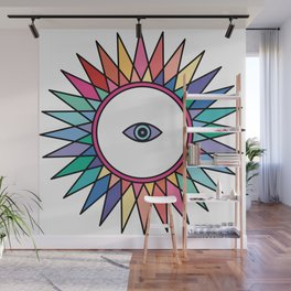 (Rainbow) Third Eye - Seeing Eye Wall Mural