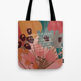 Wrapped in. grace Tote Bag