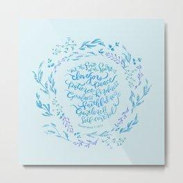 The Fruit of the Spirit - Galatians 5:22~23 / Blue Metal Print