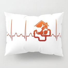 PLUMBER HEARTBEAT Pillow Sham