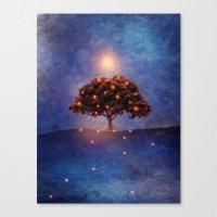 lights Canvas Prints featuring Energy & lights by Viviana Gonzalez