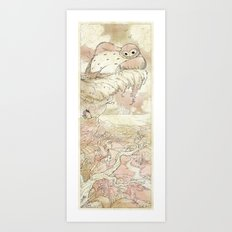 Exploring with Magpie - Red Art Print