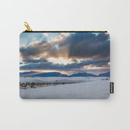 One More Moment - Sunbeams Burst From Clouds Over White Sands New Mexico Carry-All Pouch