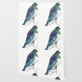 Mr Kereru, New Zealand native wood pigeon Wallpaper