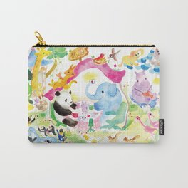 Holiday Zoo Carry-All Pouch