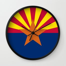Arizona State flag, Authentic version - color and scale Wall Clock