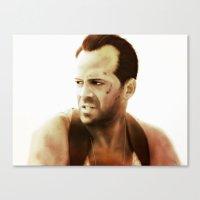 die hard Canvas Prints featuring Die Hard by Alexia Rose