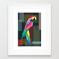 parrot Framed Art Prints featuring parrot by mark ashkenazi