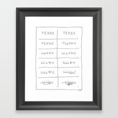 Texas Armadillo Framed Art Print