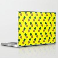 pineapples Laptop & iPad Skins featuring Pineapples by Ella Lama