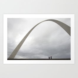 Gateway Arch and people Art Print
