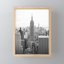 NEW YORK CITY - EMPIRE STATE Framed Mini Art Print