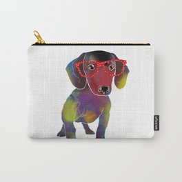 hipster dachshund Carry-All Pouch