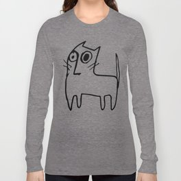 A mangy, miffed and slightly damaged cat Long Sleeve T-shirt
