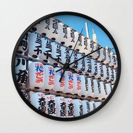 Parade of lanterns at Asakusa Wall Clock