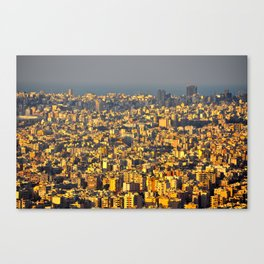 Beirut sunset Canvas Print