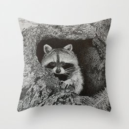 lil bandit Throw Pillow