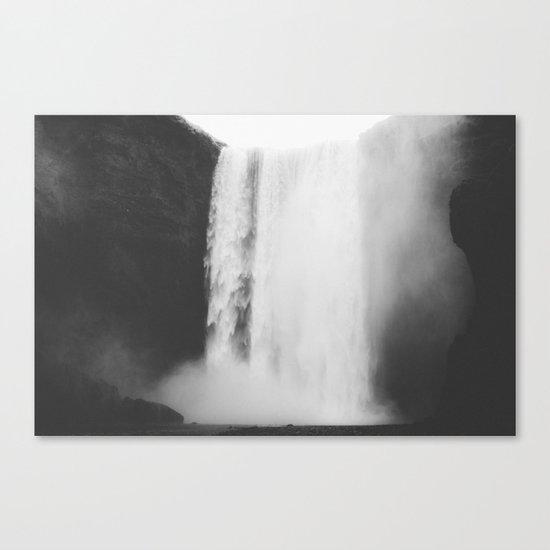 Black waterfall Canvas Print