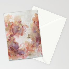 Golden Season Abstract Painting Stationery Cards