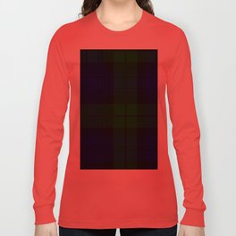 Scottish Campbell Tartan Pattern-Black Watch #2 Long Sleeve T-shirt