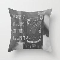da vinci Throw Pillows featuring See Leonardo da Vinci by KimberosePhotography
